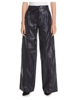 Eve High Rise Crinkle Wide Leg Pants by Rejina Pyo