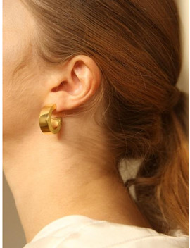 Wide Hoop Earrings by Zoena