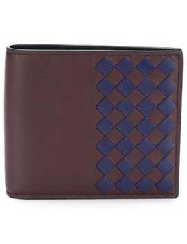 Two Tone Woven Cardholder by Bottega Veneta