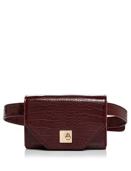 Medium Croc Embossed Convertible Belt Bag   100 Percents Exclusive by Aqua