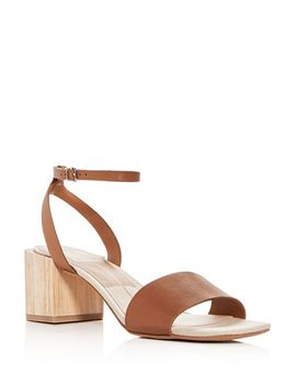 Women's Zarita Leather Block Heel Sandals by Dolce Vita