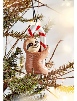 We Cane Do It Sloth Ornament by Modcloth