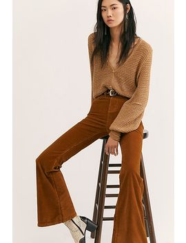 Lee Corduroy High Rise Flares by Free People