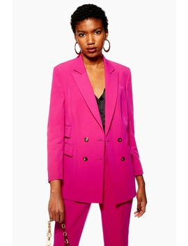 Petite Longline Double Breasted Jacket by Topshop