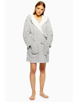 Petite Rose Faux Fur Robe by Topshop