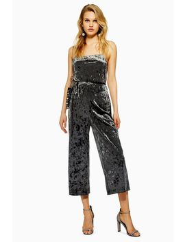 Velvet Jumpsuit by Topshop