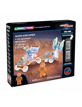 Laser Pegs Mars Explorer Light Up Building Block Playset (180 Piece) The First Lighted Construction Toy To Ignite Your Child's Creativity; It's Your Imagination, Light It Up by Laser Pegs