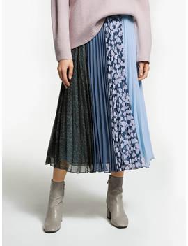 Finery Amara Multi Print Pleat Midi Skirt, Multi by Finery