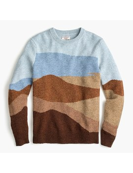 Wallace & Barnes Lambswool Intarsia Knit Sweater by J.Crew