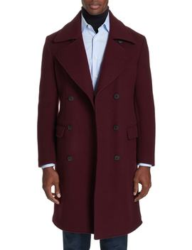 Double Breasted Wool & Cashmere Overcoat by Eidos