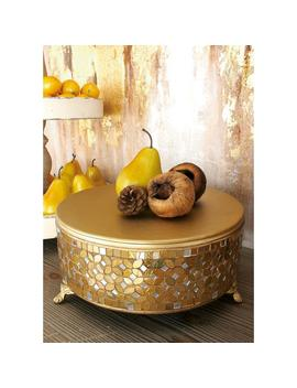 Gold Iron And Glass Mosaic Round Cake Stand (Set Of 3) by Litton Lane