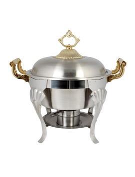 5 Qt. Half Size Round/Brass Handle Set Comes In Set by Restaurant Essentials