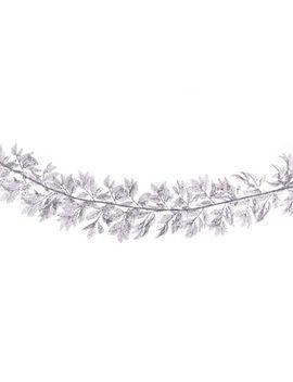 Debenhams   Silver Glitter Cut Out Leaf Garland by Debenhams