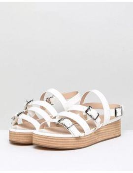 Asos Design Telson Multi Buckle Flatforms by Asos Design