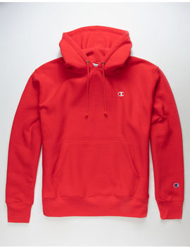 Champion Reverse Weave Scarlet Mens Hoodie by Champion