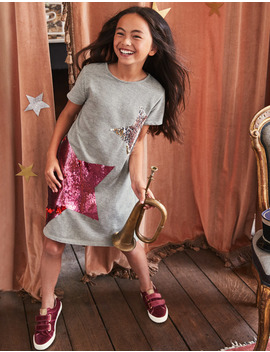 Colour Change Sequin Tee Dress by Boden