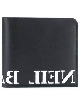 Logo Print Wallet by Neil Barrett