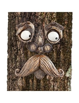 Bits And Pieces Old Man Tree Hugger   Garden Peeker Yard Art   Outdoor Tree Hugger Sculpture Whimsical Tree Face Garden Decoration by Bits And Pieces
