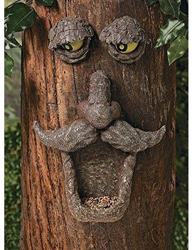 Birdfeeder Tree Face Sculpture Outdoor Yard Garden Hugger Decor by Unbranded