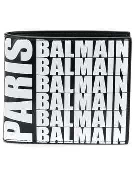 Logo Print Wallet by Balmain
