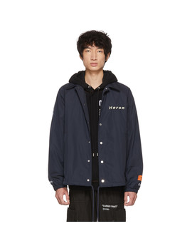 Blue 'style' Coach Jacket by Heron Preston