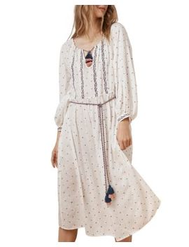 Isilda Embroidered Peasant Dress by Velvet By Graham & Spencer