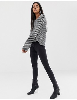 Weekday Base Boxy Stripes Long Sleeve Tee Shirt by Weekday