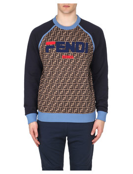 Men's Baseball Crewneck Sweatshirt by Fendi