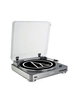 Audio Technica Automatic Stereo Usb & Analog Record Player Turntable, Silver by Audio Technica