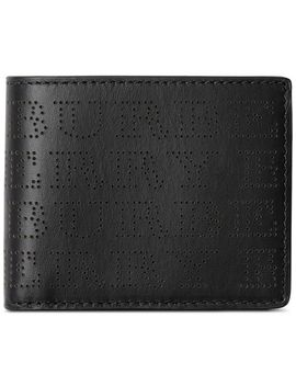 Perforated Logo Leather Bifold Wallet by Burberry