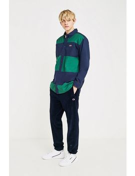 Tommy Jeans Retro Navy Colour Block Shirt by Tommy Jeans