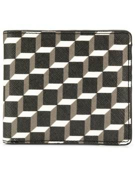 Small Geometric Print Wallet by Pierre Hardy