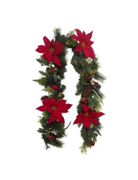 """72"""" Poinsettia Led Garland by Michaels"""