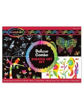 Melissa & Doug® Deluxe Combo Scratch Art Set: 16 Boards, 2 Stylus Tools, 3 Frames by Melissa & Doug