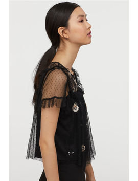 Mesh Blouse With Sequins by H&M