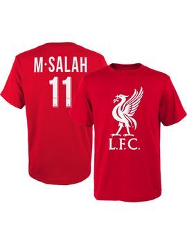 Adidas Youth Liverpool Mohamed Salah #11 Red Player Tee by Adidas