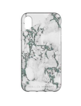 Black Glitter Marble Case For I Phone Xs & I Phone X by Rebecca Minkoff