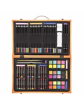 Darice 80 Piece Deluxe Art Set – Art Supplies For Drawing, Painting And More In A Compact, Portable Case   Makes A Great Gift For Beginner And Serious Artists by Darice