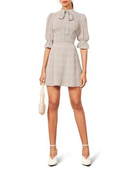 Cassie Tie Neck Minidress by Reformation