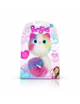 Pomsies Sherbert Plush Interactive Toys, White/Pink/Blue/Purple/Yellow One Size by Pomsies