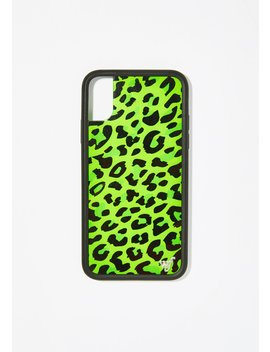 Neon Leopard I Phone Case by Wildflower