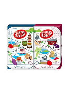 Japanese Kit Kat East Japan & West Japan Set 10 Flavors Assortments (24 Mini Bar) (Japan Import) by Kit Kat