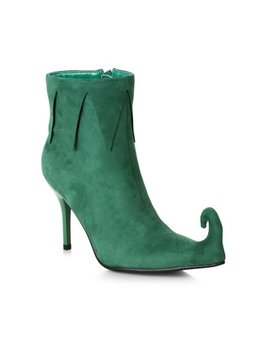Halloween Costume Accessory For Women: 3 Inch Heel Green Holiday Boot by Unbranded