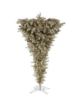 Vickerman 5.5' Champagne Upside Down Artificial Christmas Tree, Unlit by Vickerman