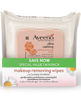 Ultra Calming Makeup Removing Wipes Twin Pack by Aveeno