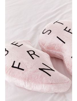 Best Friends Heart Velvet Pillow Set by Urban Outfitters