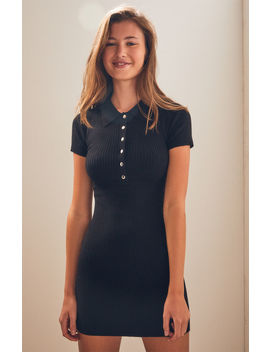 La Hearts Snap Front Polo Dress by Pacsun