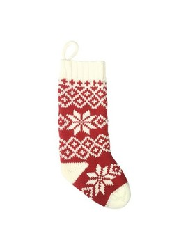 Casual Fair Isle Snowflake Christmas Stocking Red/White   Wondershop™ by Shop Collections