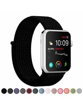 Syre Compatible With Apple Watch Band Series 4/3/2/1 38mm 40mm 42mm 44mm, Lightweight Breathable Nylon Sport Band Replacement I Watch Series 4, Series 3, Series 2, Series 1 by Tces