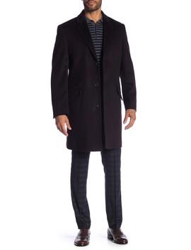 Wool Blend Shelby Longline Overcoat by Hart Schaffner Marx